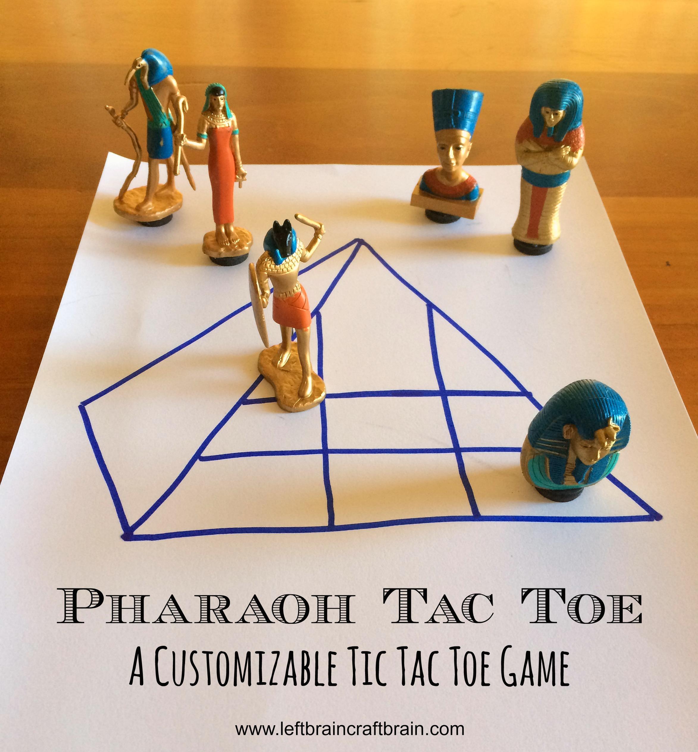 customizable tic tac toe pharaoh tac toe title
