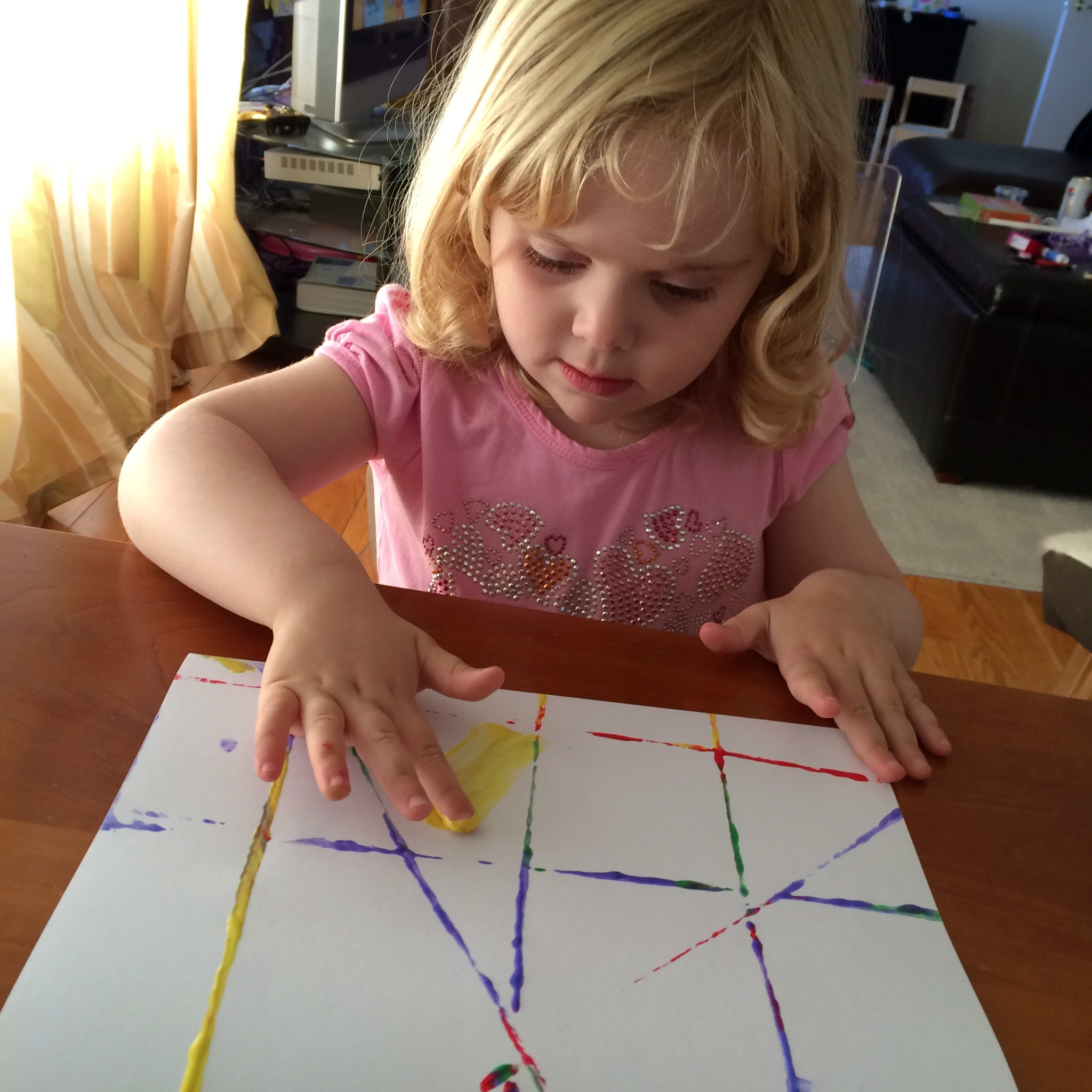 string painting and printing finger painting left brain craft brain