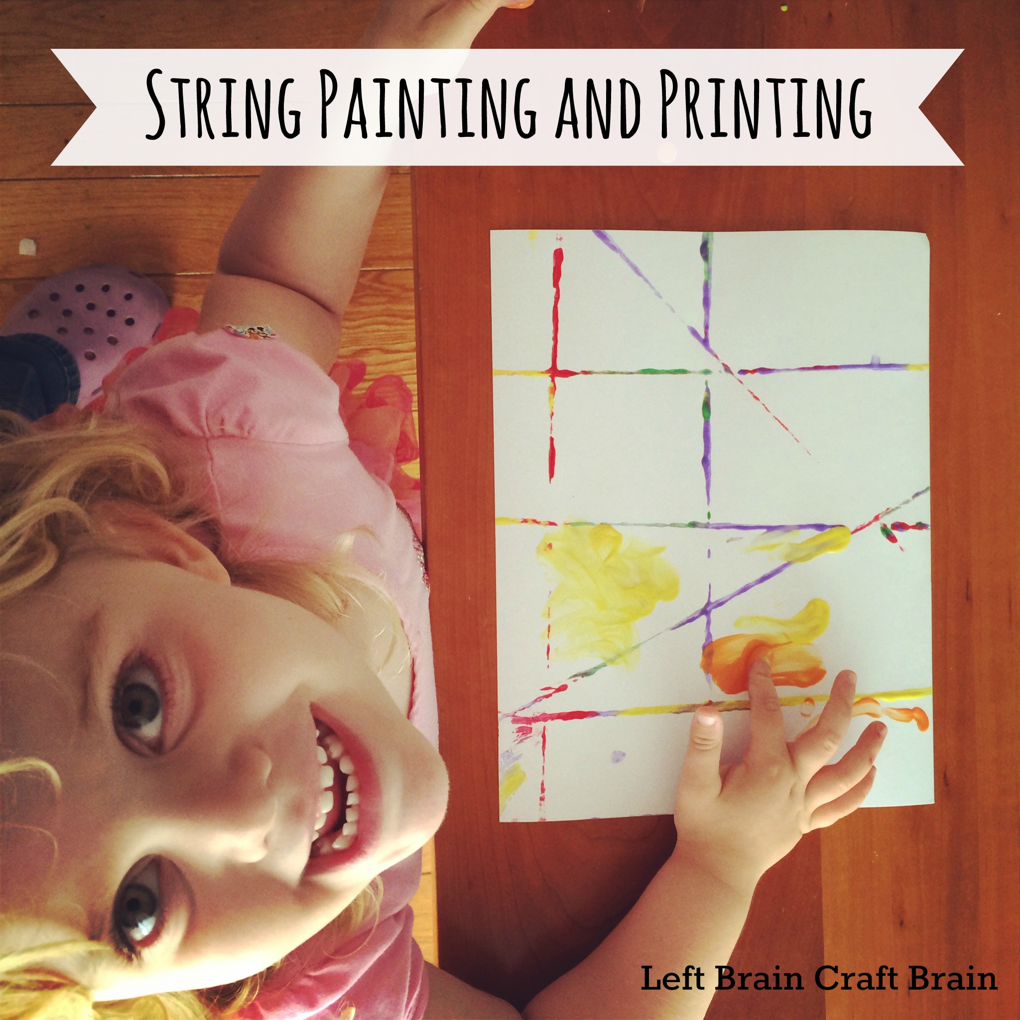 string painting and printing left brain craft brain