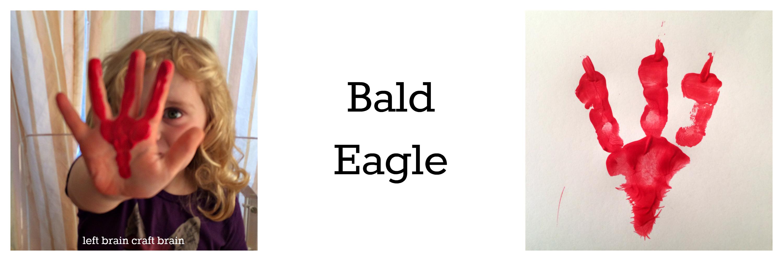bald eagle animal track hand print left brain craft brain