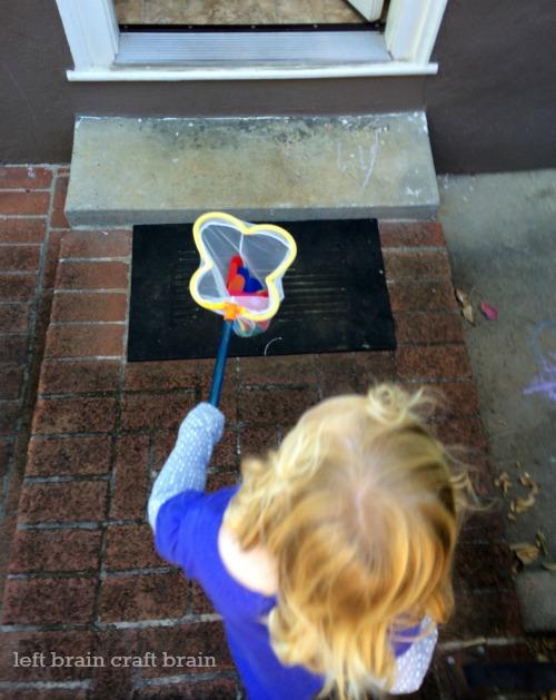 butterfly catch game activity doorway left brain craft brain