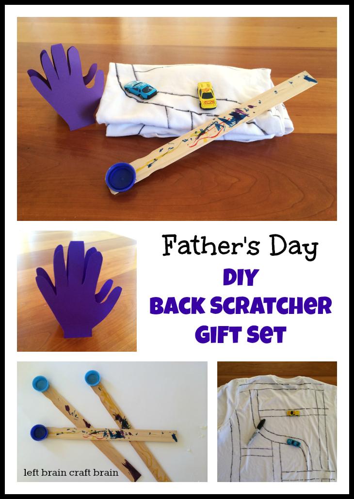 Father's Day DIY Back Scratcher Gift Set Left Brain Craft Brain