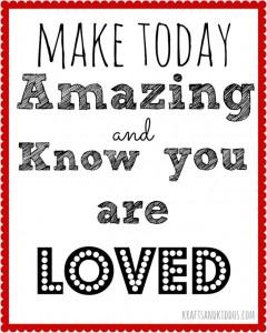 Make-Today-Amazing-School-Printable