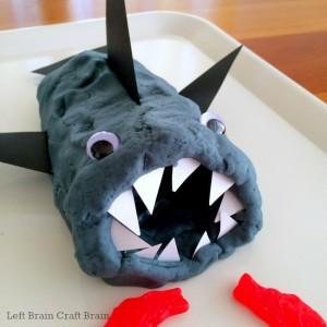 feed the shark geometry play dough left brain craft brain 650x650