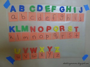 matching upper case and lower case letters all alphabet use pm