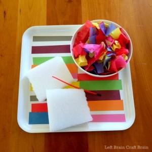 tissue paper sensory art supplies left brain craft brain