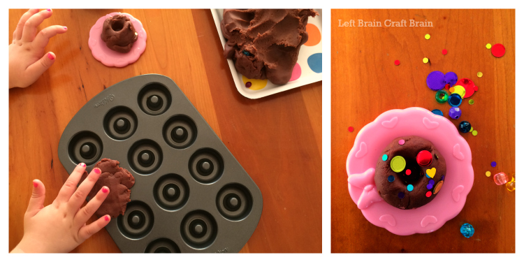 donut sensory play sparkles left brain craft brain
