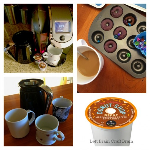 keurig coffee donut shop sensory play left brain craft brain
