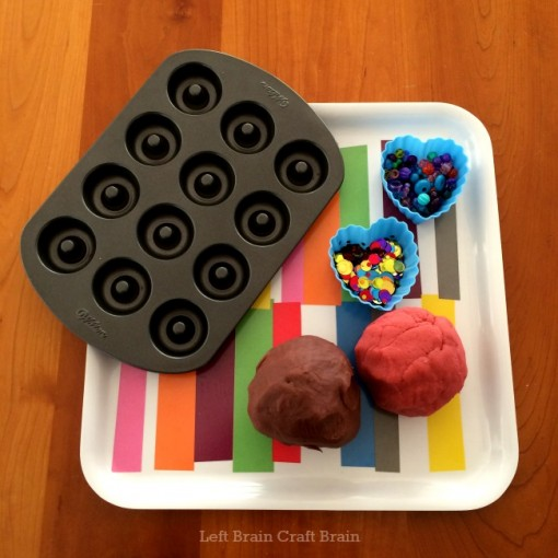 play dough donut shop supplies left brain craft brain