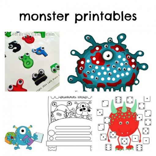 Monster Printables Left Brain Craft Brain