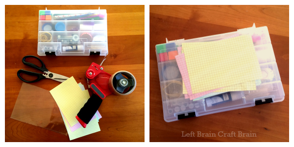 Paper Pocket for Tinkering Kit Left Brain Craft Brain
