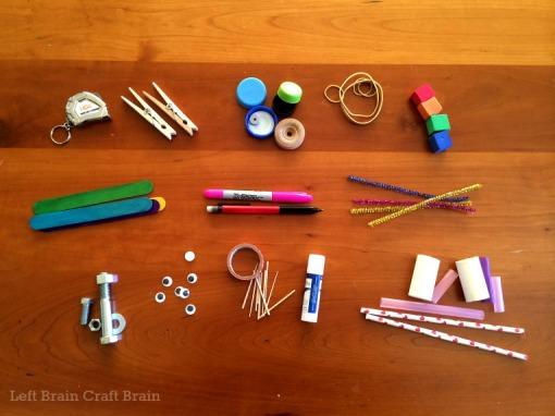 Portable Tinkering Kit for Preschoolers Contents Left Brain Craft Brain