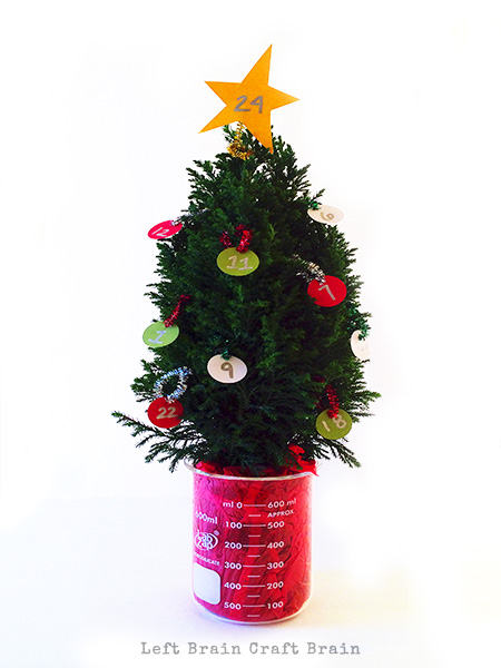 STEAM Advent Calendar Tree Left Brain Craft Brain