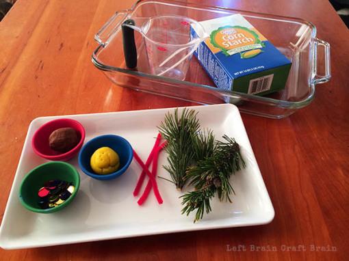 Snowy Christmas Tree Science Supplies Left Brain Craft BRain