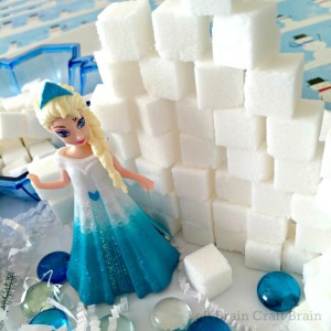 Sugar Cube Invitation to Build Elsa's Ice Palace Left Brain Craft Brain 2