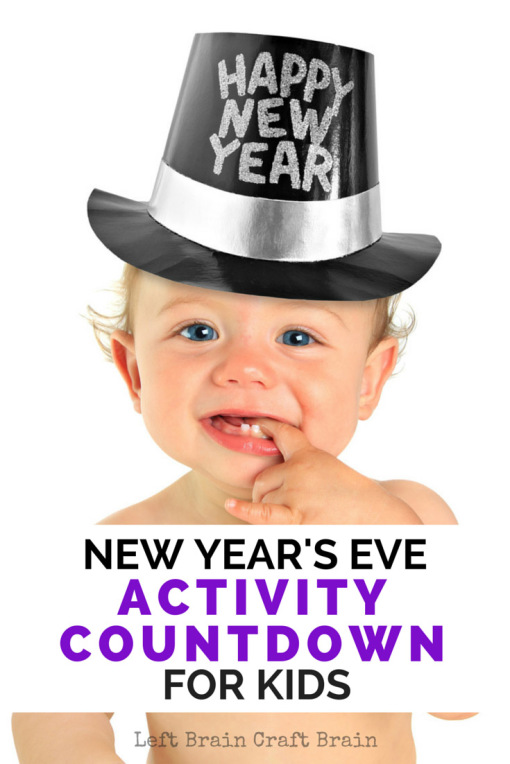 Countdown to New Year's Eve with these activities for kids!  A little science, messy play and learning make a great way to celebrate the new year.