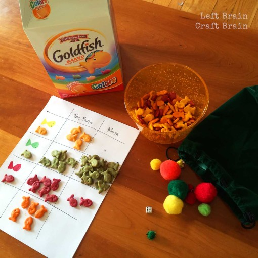 Goldfish Cracker Math Game Left Brain Craft Brain