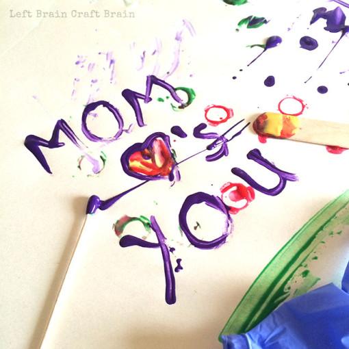 Mom Loves You Paint Doctor Left Brain Craft Brain