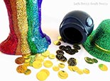St. Patrick's Day Rainbow Slime | Left Brain Craft Brain