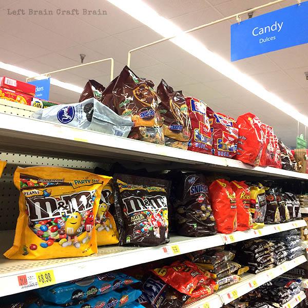 Candy at Walmart Left Brain Craft Brain