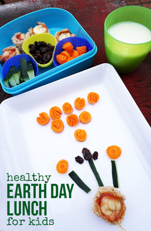 Make a healthy earth day lunch for kids with this fun earth's core sandwich roll-up, bento box style. Great STEM learning.
