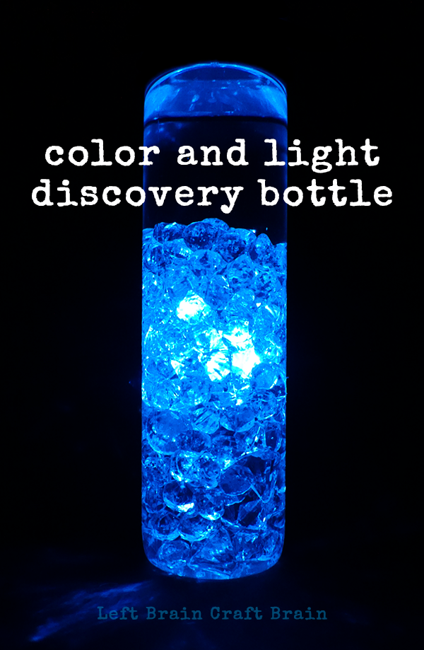 Be mesmerized by color and light with this easy to make discovery bottle for kids.