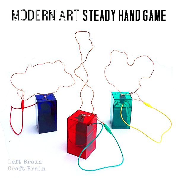 Make a Modern Art Steady Hand game to explore your artistic side and learn circuits at the same time. It's a great STEAM / STEM learning project for kids.