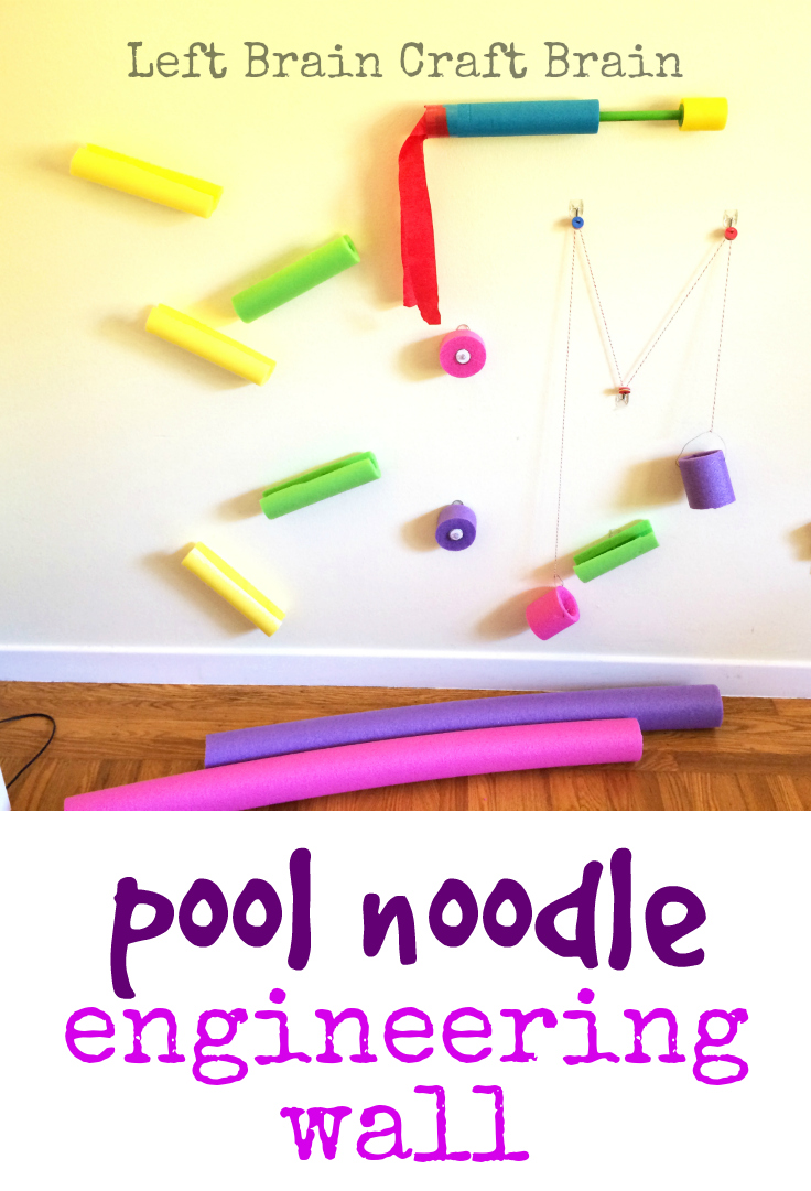 Make this awesome pool noodle engineering wall with your kids for some fun summertime STEM learning.