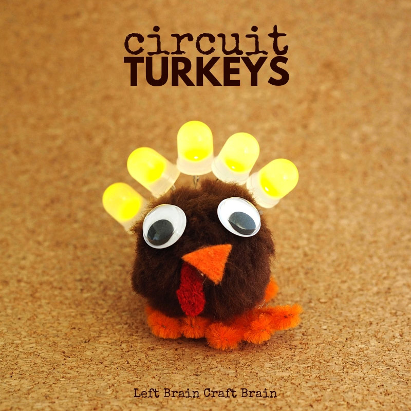 Kids can make this fun light up Thanksgiving turkeys and learn the power of STEM. Perfect for the classroom or the kids' table on Thanksgiving day.
