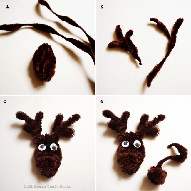 Light Up Rudolph Christmas Ornament Steps