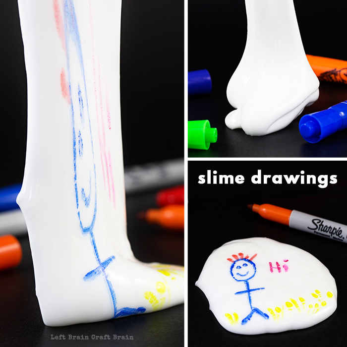 Slime drawings put a new spin on an old standby by using slime as a canvas for your art. Just draw, stretch and have fun! Five minute crafts made fun.
