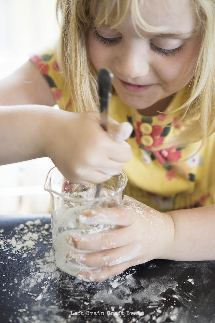 Stirring Oobleck Left Brain Craft Brain