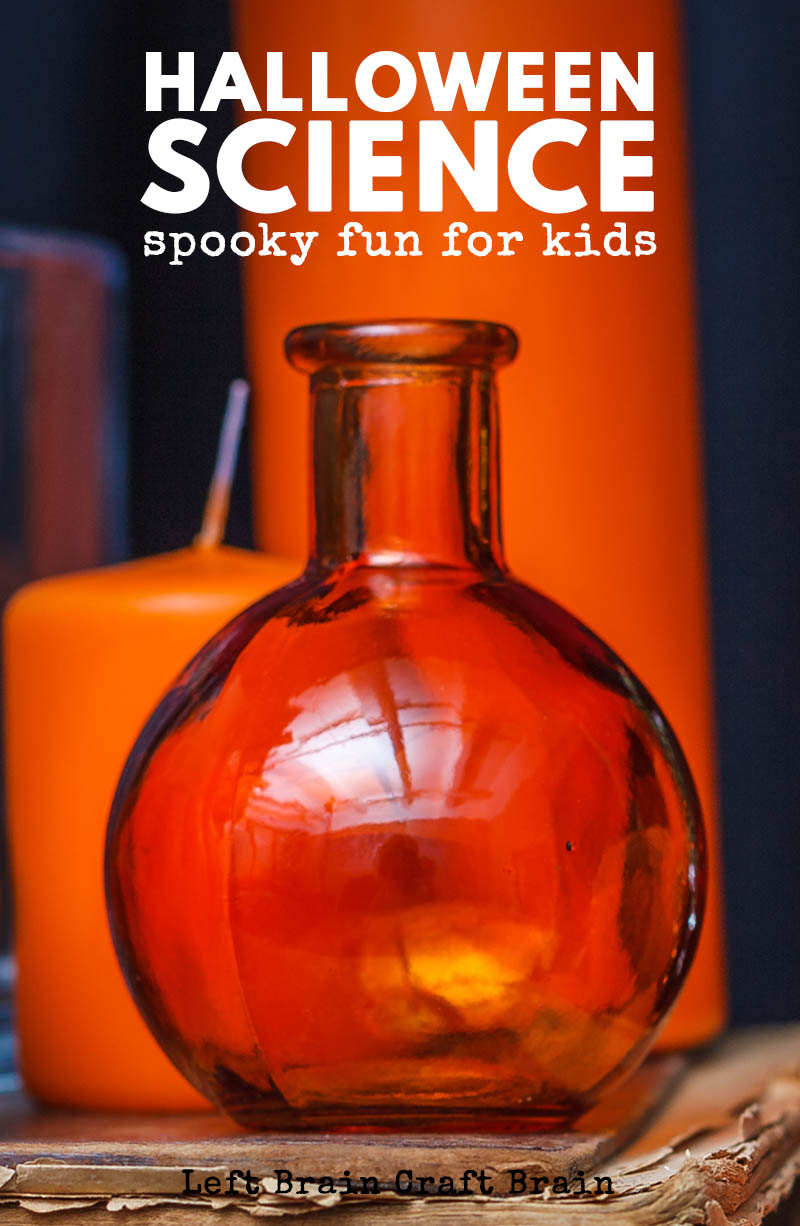 Have fun with Halloween Science projects by making things glow in the dark, change color, make scary sounds and explode!