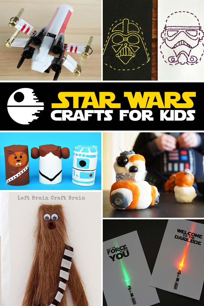 Very cool Star Wars crafts for the movie-loving kids in your house.