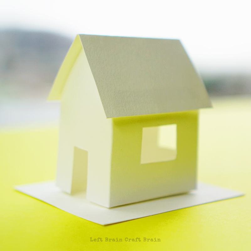 Finished paper house