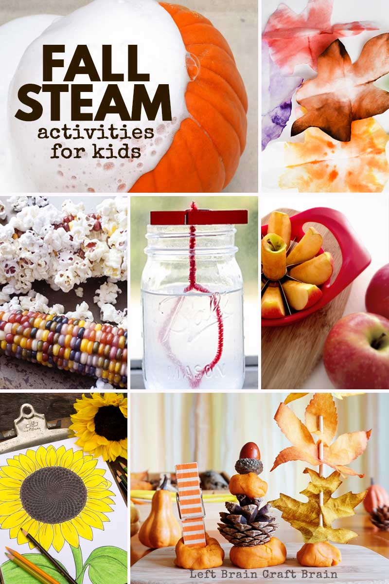 The air is getting cooler & the leaves are changing. It's fall science happening around you! This set of Fall STEAM activities are perfect for your kids.
