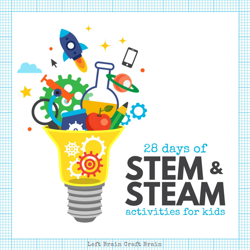 28 Days of STEM and STEAM Activities for Kids