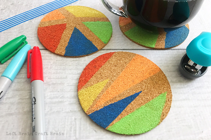 These painted coasters are the perfect homemade gift!