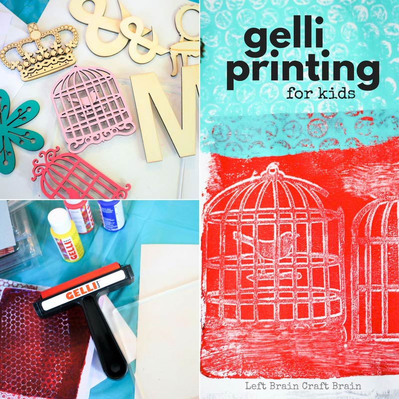 Gelli printing takes mixed media art creations to another level, but it's an easy art project you'll want to do! Grab your acrylic paint stash for an easy to clean art activity and fun art lesson plan!