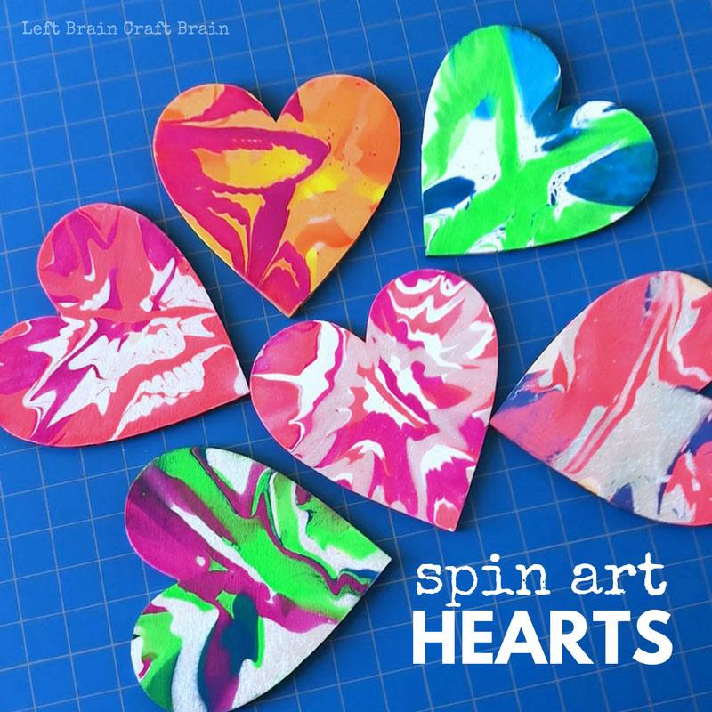 Spin Art Hearts
