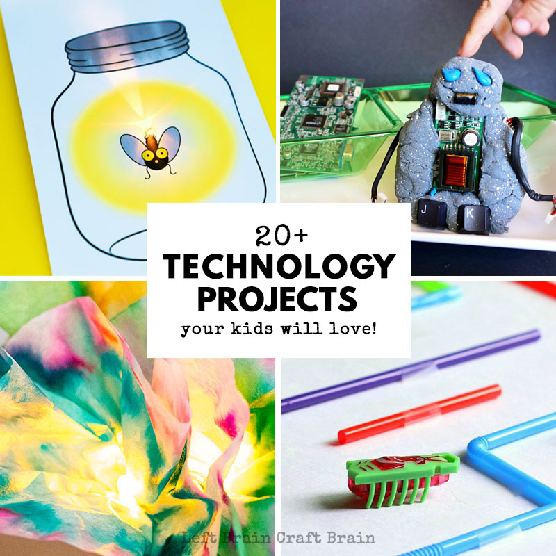 Your STEAM kids are going to love these technology projects for kids! These fun STEM projects like circuit cards, bots, coding, and more are perfect for problem solving or science fair activities.