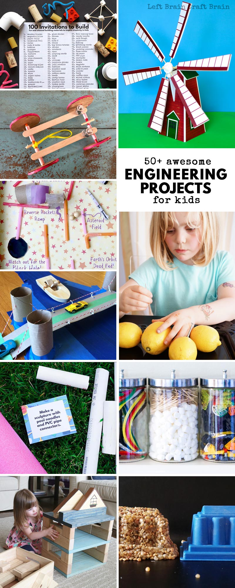 You're gonna love these awesome engineering projects for kids that will get them building, creating, and having fun. You'll find building activities, STEM challenges, STEAM challenges, electrical engineering projects, holiday engineering projects, and more in this massive list of more than 50 ideas.