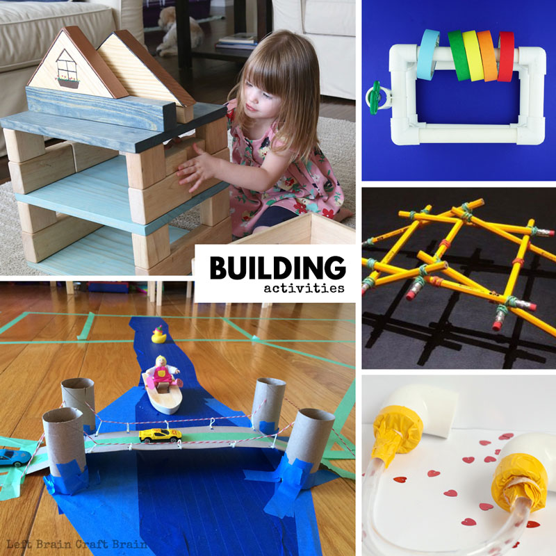 Super fun building activities and ideas that the kids will love.