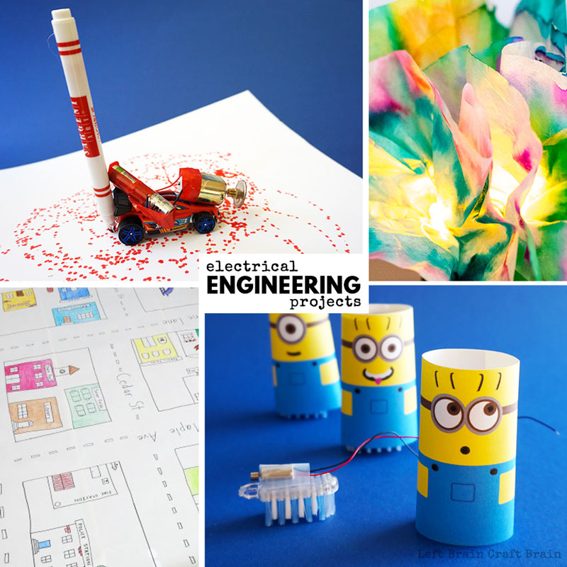 Electrical engineering projects like circuits, coding, and more.