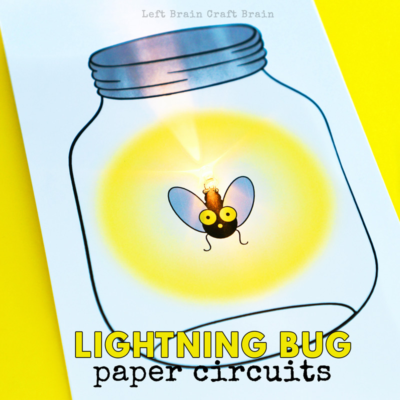 This Glowing Lightning Bug Paper Circuit Card is a perfect project for STEM and STEAM learning at home or school or your favorite makerspace! Be sure to add this to your favorite summer STEAM project list!