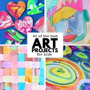 Your kids will love this collection of art projects for kids! You'll find everything you need for cool art projects and simple art lessons for kids. Process art, arts integration projects, recycled art, and more. Many using arts and crafts materials you already have at home.