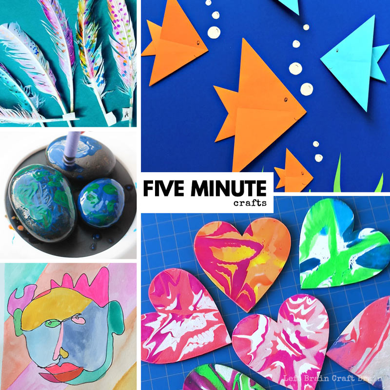 five minute crafts and five minute art projects for kids