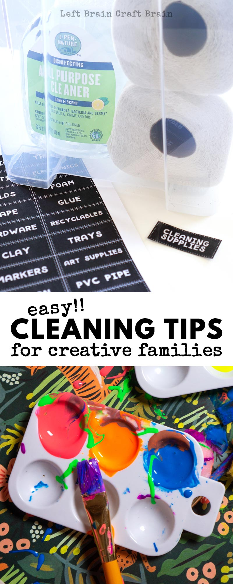 If you have a creative family, your house may be filled with supplies and projects. Try these simple cleaning tips for creative families to keep your house in order without sacrificing the fun.