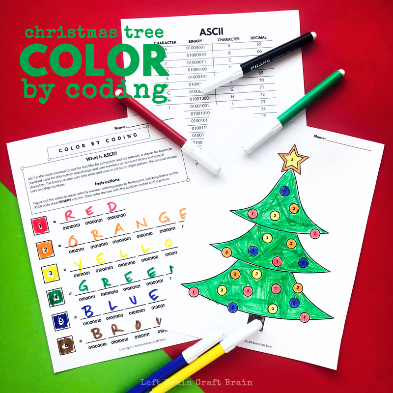 Christmas Tree Color by Coding