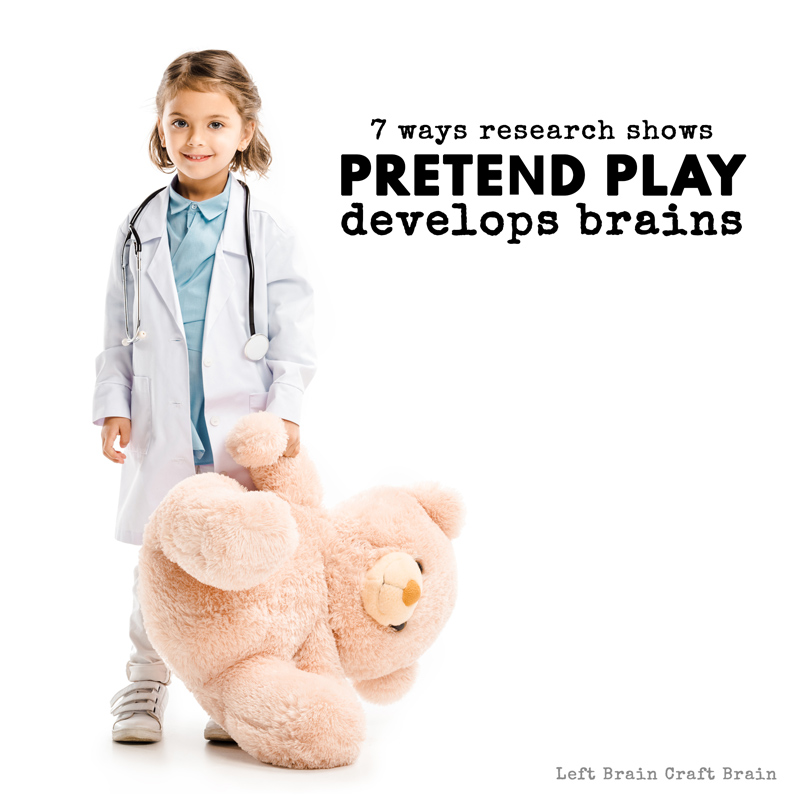 Can pretend play actually help not just help kids visualize themselves in future careers, but also boost their brain development to actually achieve those dreams? The answer is yes! Here  are 7 reasons research shows pretend play helps child development.